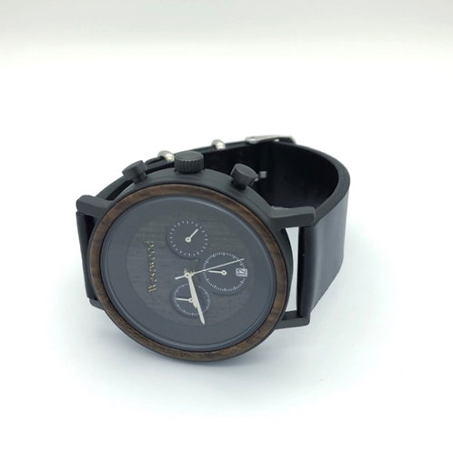 Sunset Watch Wood - Leather