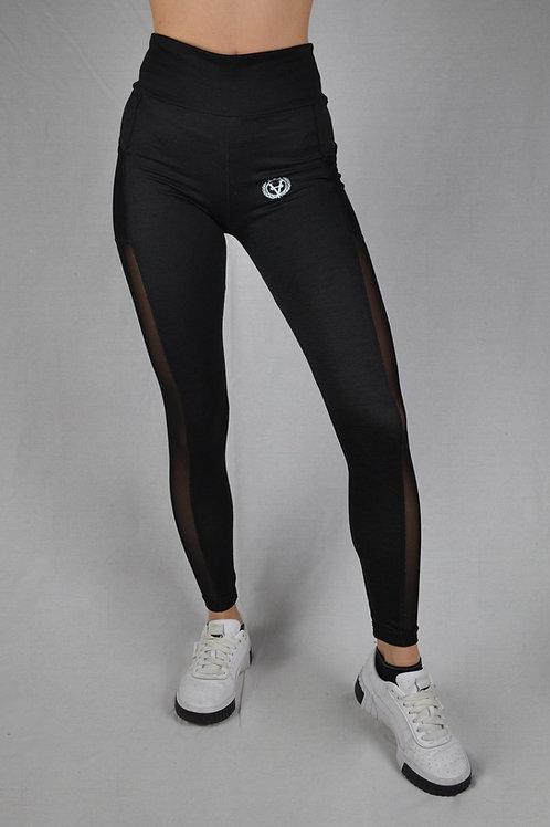 Basic Mesh Leggings Black