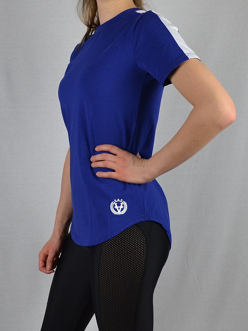 Striped Women Shirt Dark Blue/White
