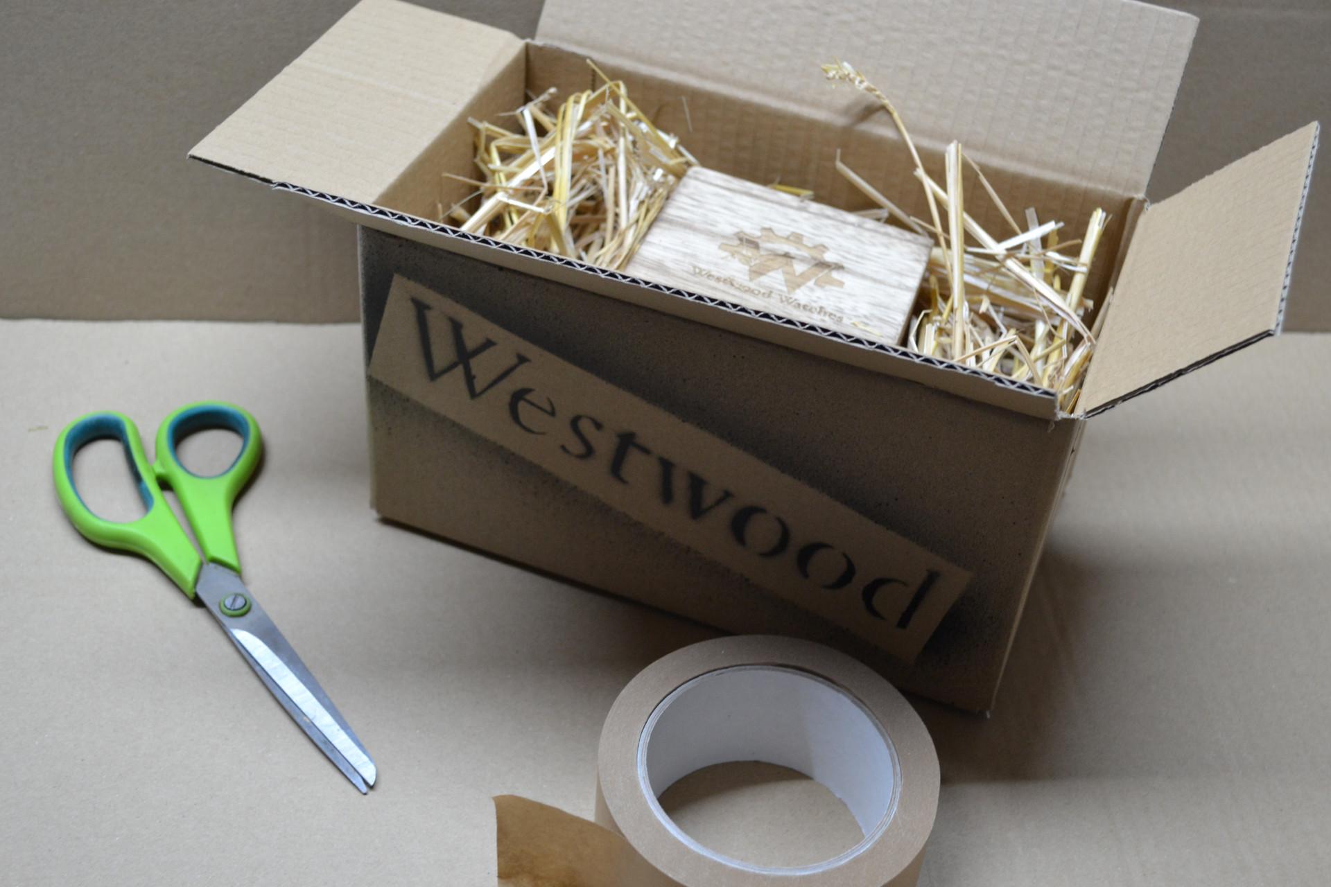 Warenausgang und Verpackung mit natürlichen Materialien