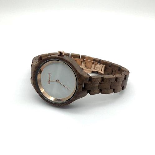 Gold Autumn Watch - Brown/White
