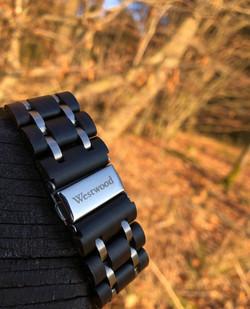Armband Glieder aus Holz und Metall
