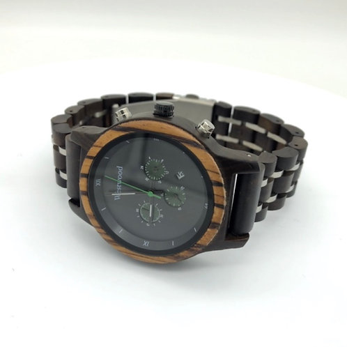 Pure Life Watch Wood - Metal Strap