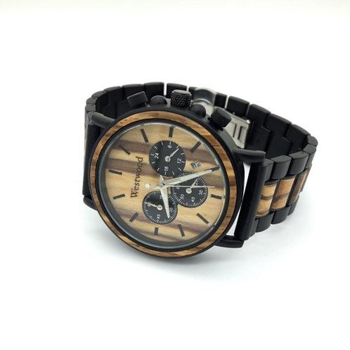 Western Style Watch Wood - Metal