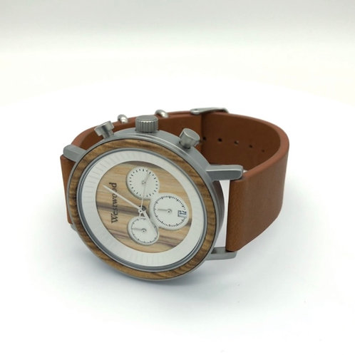 Sunrise Watch Wood - Leather