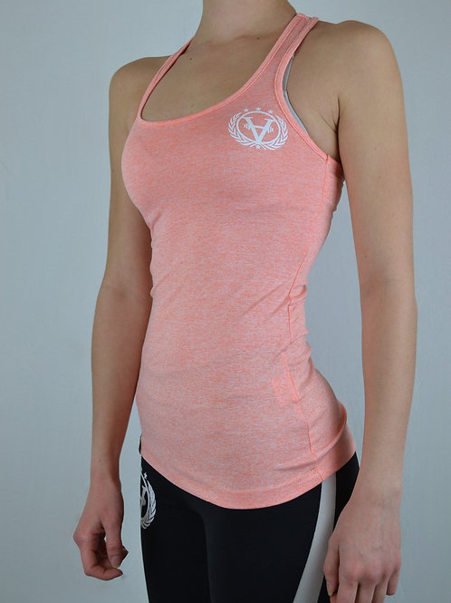Ladies Top Salmon Orange