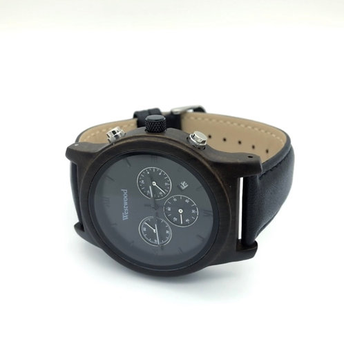 Outer Space Watch Wood - Leather