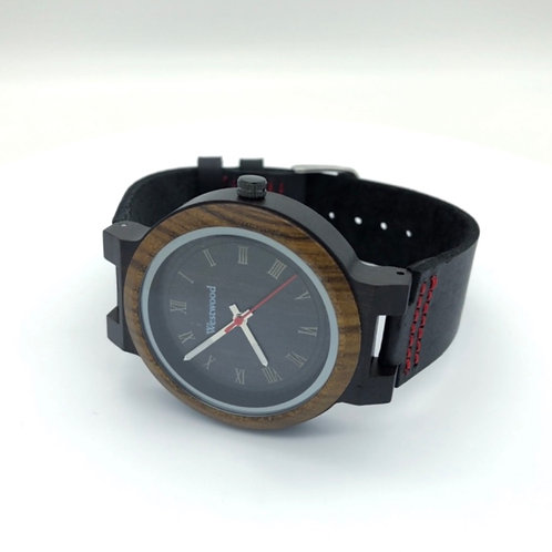 Fire and Earth Watch Wood - Leather