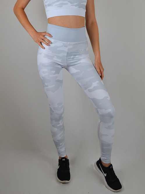 Military Mesh Leggings White Camo