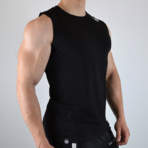 Basic Tank Top Simple Black