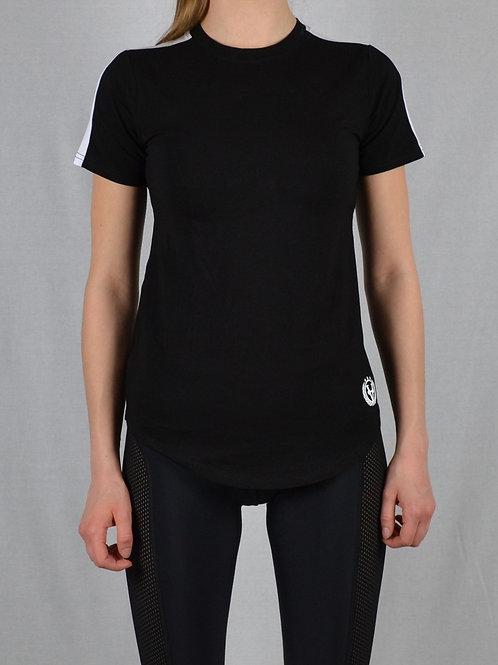Striped Women Shirt Black/White