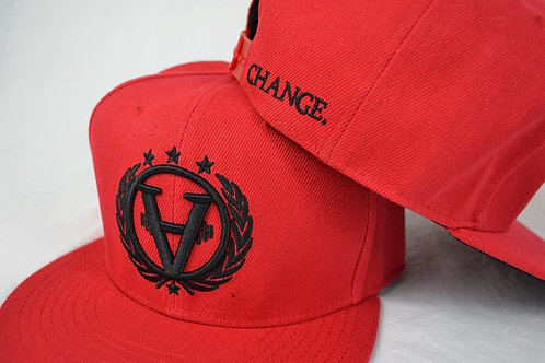 TEAMCHANGE Snapback Red