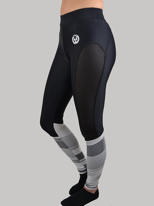 Active Mesh Leggings Black/White
