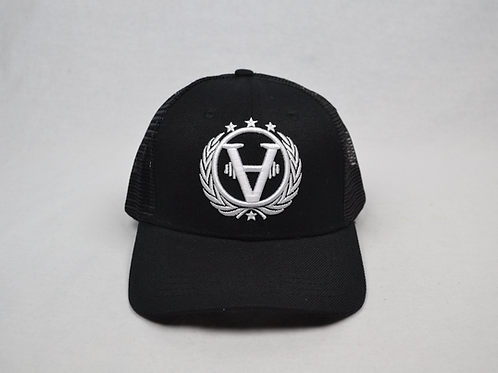Baseball Cap Black/White Mesh