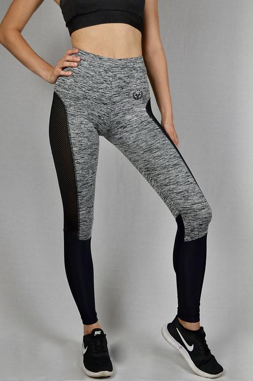Active Mesh Leggings Grey/Black