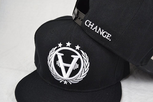TEAMCHANGE Snapback Black and White