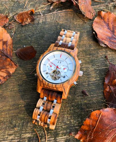 Herbst Männeruhr Holzuhr Westwood