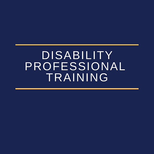 Advanced Training for Health Science Disability Professionals
