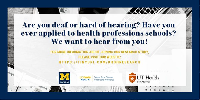 Research study calling for deaf and hard of hearing students, linked to DHOH research