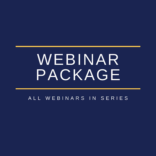 Complete Webinar Series // July-October 2020