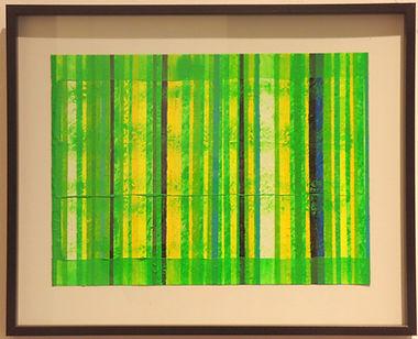 La mort par poison.  Acrylic on paper in artist frame. 50x40cm