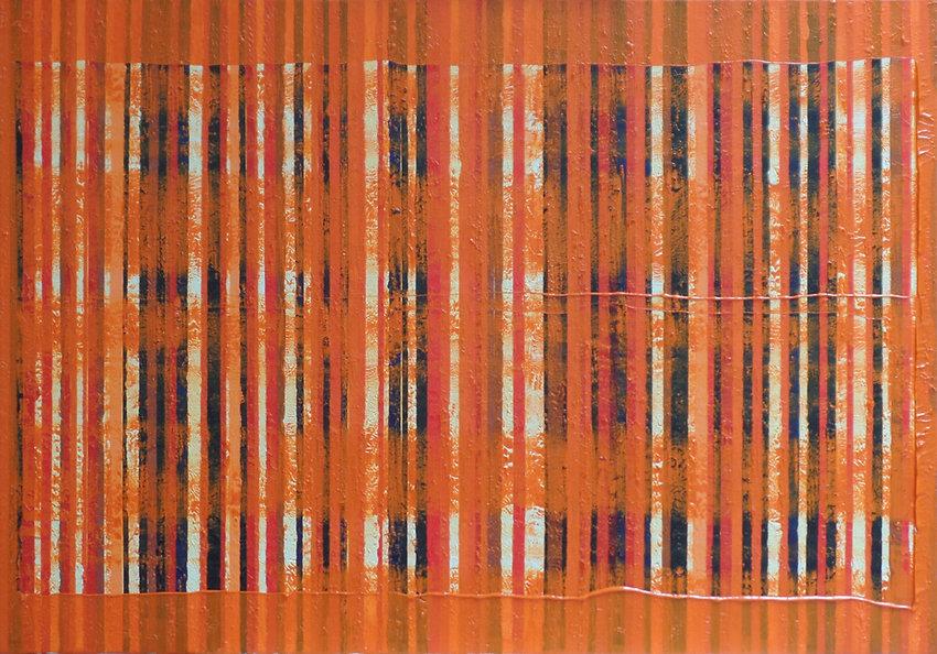 L'esprit en feu. Oil on canvas. 100x80cm