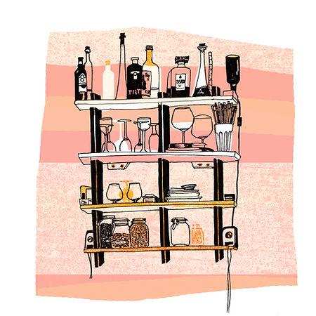 The Wine Corner Mixed Media
