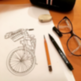 Ladie's Bike Drawing