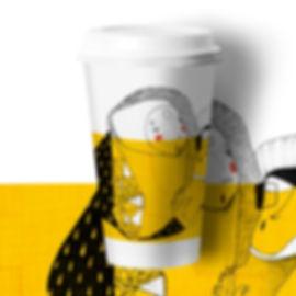 Take Away Coffee Cup Design Eden Bar & Grill