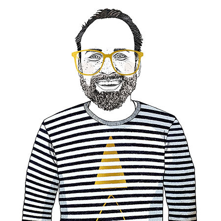 Illustrated Portrait Stripes Bratislava