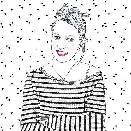 Zuzana Kralovicova Illustrated Portrait Bratislava