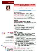 CV Français Tania Zimen Skriva