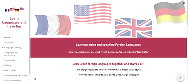Website Learn Languages and have fun