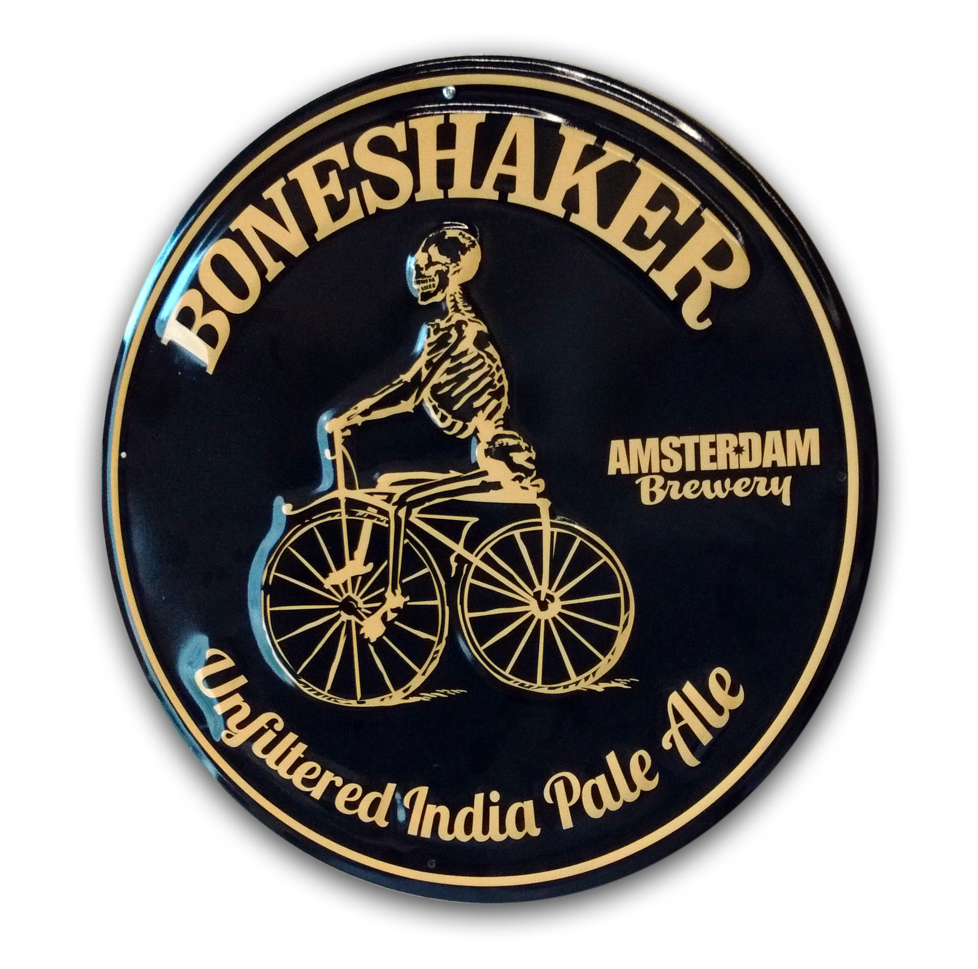 Amsterdam Bone Shaker Tin Sign