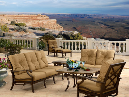 What a great view we enjoy on our new patio furniture cushions...