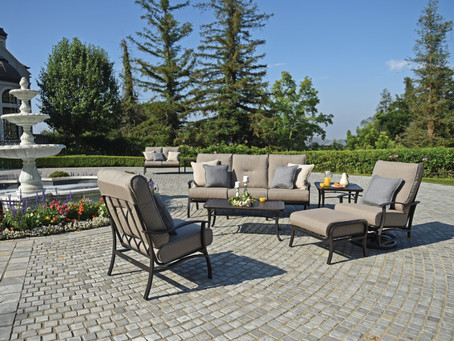 Comfy cushions and great fabric colors to choose from, Dreampatio hit a Home Run!