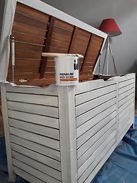 Relooking meuble en teck sous-couche