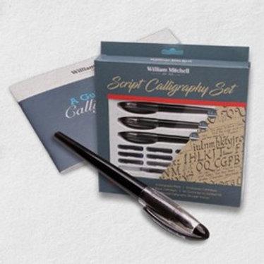 William Mitchell Script Calligraphy Set - Left Oblique