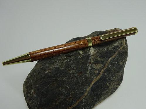 Slimline Twist Sapele Wood Pen
