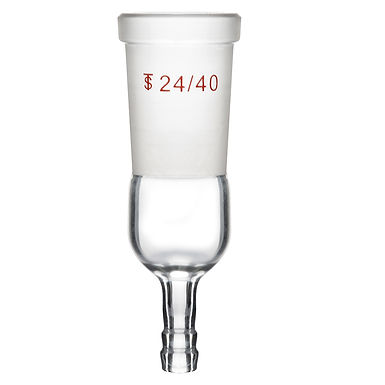 Straight Inlet Adapter with 24/40 and 8 mm Hose Connection Lab Glassware