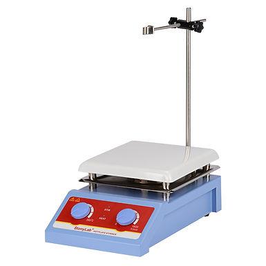 "Hotplate Magnetic Stirrer, 5L Capacity 0-1600 RPM 7.4"" x 7.4"" Max 380℃ 600W 110V"