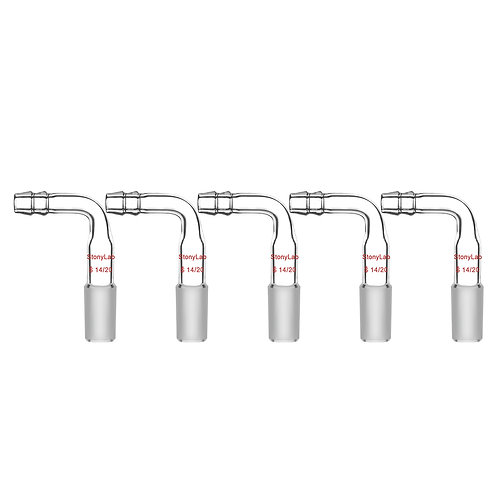 Bent Inlet Adapter With Male Joint, 10mm Hose Connection, 5-Pack