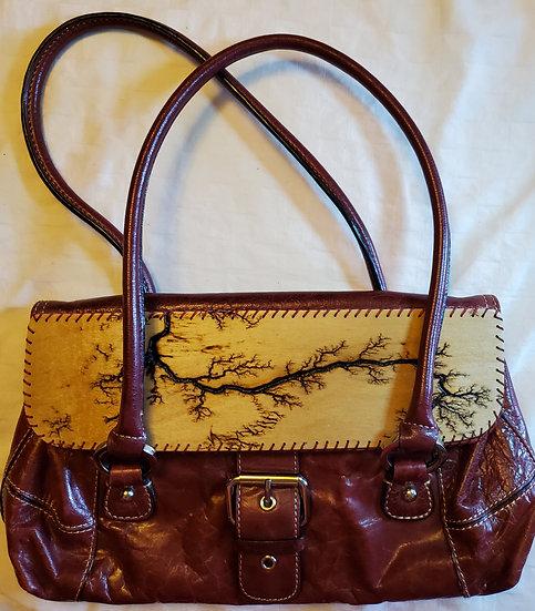 Shoulder/Arm Strap Maroon Upcycled Bag