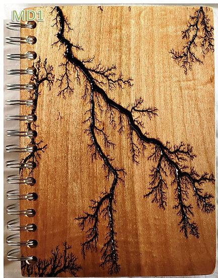 Mother's Day themed Lichtenberg Journal/Notebook