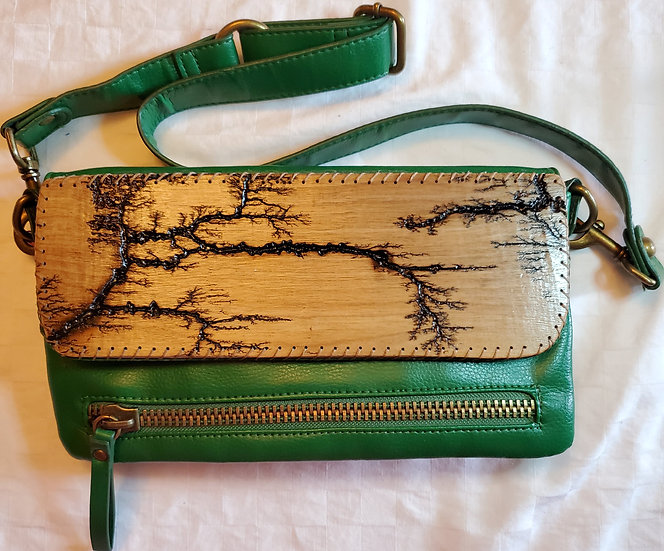 Shoulder/Arm Strap Green Upcycled Bag