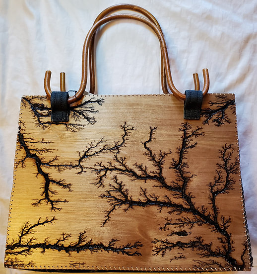 Double-sided Wood Handle Upcycled Bag
