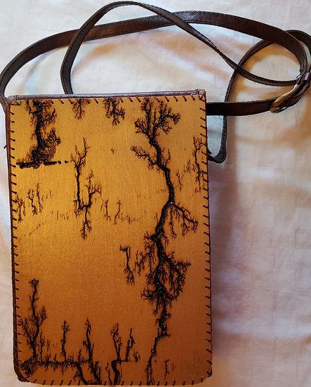 Cross Body Brown Print Upcycled Bag