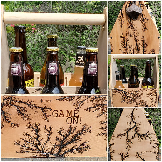 """""""Game On!"""" 6-pack Electrified Beverage Carrier"""
