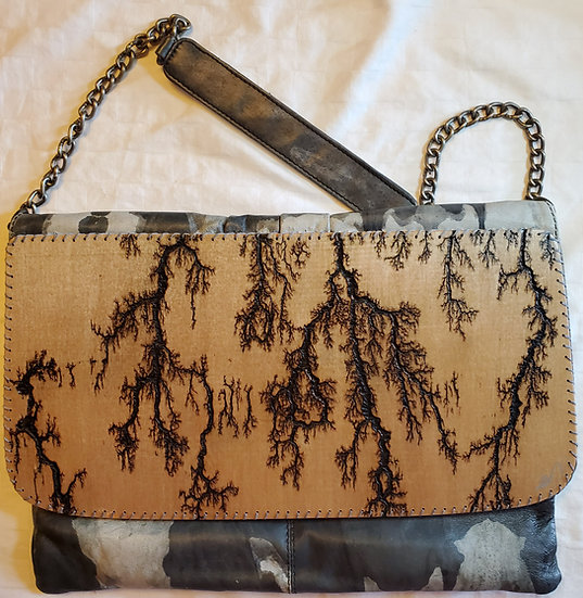 Shoulder Chain Shades of Grey Upcycled Bag