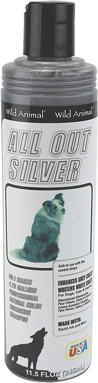 All Out Silver Color Enhancing Shampoo by Wild Animal 50:1 - 11.7oz